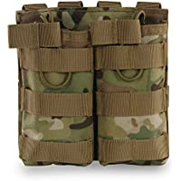 Hotour Airsoft Molle Vest Bag Bolsa Tactical Open Top mag Pouch Triple/Doble/Single revistero para Ar M4M16Hk416revistas, CP2
