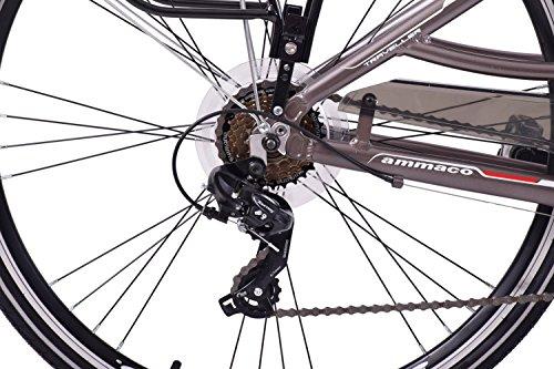 "51GF0B04fYL - Ammaco Traveller 700c Mens Hybrid Bike Front Suspension Alloy 19"" Frame Grey 21 Speed"