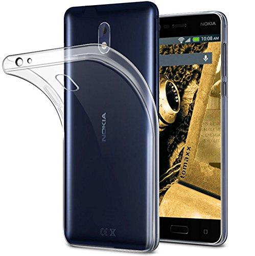 tomaxx Schutzhülle Nokia 5 Dual SIM und Nokia 5 Single Sim / Hülle Case Tasche Durchsichtig in Transparent