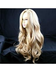 Perruque Fabuleuse Longue et Ondulée Blond Miel