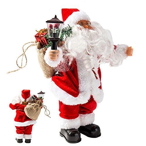 Père Noël chantant Automate Père Noël décoration musical Décor classique Cadeau (Lampe)
