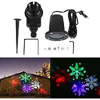 LED Proiettore Lampada Rotante Impermeabile Luce Proiezione Fiocco di Neve Stile Luce Paesaggio Giardino Cortile Fase Proiettore Natale Decorazione All'aperto Lampada