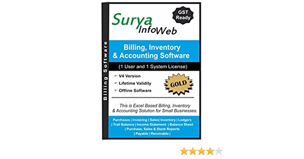 SuryaInfoWeb GST Billing Software With Inventory And Accounting - How to create invoice in excel cricket store online