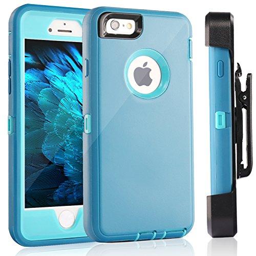 iPhone 6S Schutzhülle & # xff1a; fogeek Premium Qualität 4Schicht integrierter Displayschutzfolie, staubdicht und stoßfest mit Gürtelclip Holster und ausklappbarem Ständer für iPhone 6/iPhone 6S 11, blau