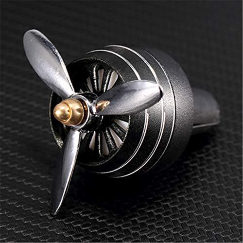 SIOJB Mini Deodorante per Auto LED Auto Uscita Profumo Odore buona Ventilazione Aroma fragranza diffusa, Nero
