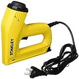Stanley Elektrotacker und Nagler (für 12/15 mm Nägel und Klammern Typ G 6/8/10/12/14 mm, Tiefenanschlag) 6-TRE550, Gelb