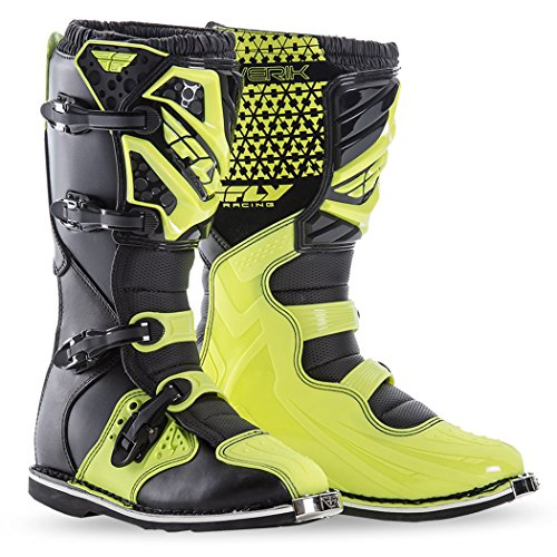 Fly Racing Motocross-Stiefel Maverik Gelb Gr. 39.5 -