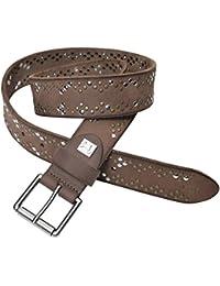PELPE- Cinturón de piel con tachuelas para mujer. En color cuero, negro y marrón. ''Iggy''
