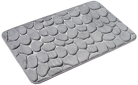 PANA AZ_LONDON_11 Memory Foam Badematte, 50 x 80 cm, Stone