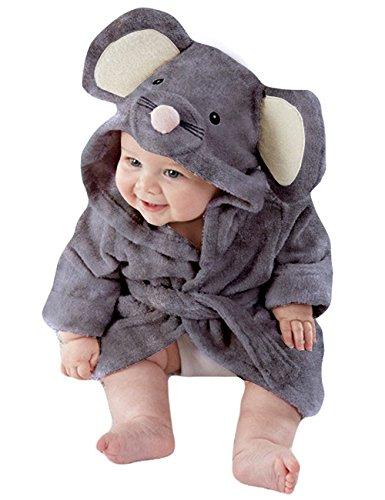 Uk Kostüme Kleinkind (Tkria Baby Mädchen Jungen Bademäntel Kleinkind Säugling Schlafanzüge Morgenmantel Kapuze Badetuch Flanell Fleece Für Kinder 1 2 3 4 5)