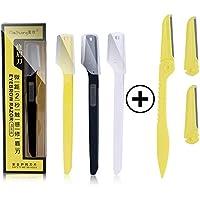 Cuchillas de afeitar para cejas, para eliminar el vello facial, precisión de afilado para mujer para recortar y moldear las cejas, kit de aseo – Pack de 6