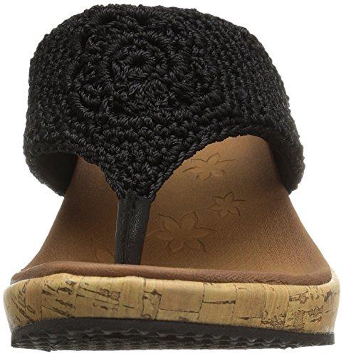Skechers Cali Womens Beverlee Wedge Sandal Black Crochet