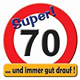 Riesenschild 'Hurra! 70' Geburtstag 52cm