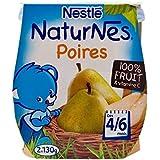 Nichées Naturnes Poires (4/6 Mois) 4 X 130G - Paquet de 2