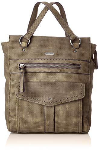 Tamaris Damen Adriana Backpack Rucksackhandtasche, Grün (Khaki) 10x28x25 cm - Khaki Handtasche