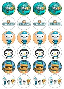 Octonauts Style 24 Edible Wafer Paper Fairy/Cup Cake Toppers on an A4 sheet - Birthday Cake and Party Idea - Require Cutting Out