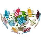 Deckenleuchter Deckenlampe Kinderleuchter mehrfarbig Kunstsoff umweltfreundlich Ø47cm 5-flammig exl. E14 5x40W 230V