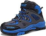 Scarpe da Escursionismo Stivali da Neve Scarpe da Trekking Unisex - Bambini(2 Blu,30 EU)