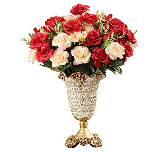 ond Resin Vase High-Grade Fashionable Creative Home Crafts Figurine Decoration Livingroom Table Flower Pot ()