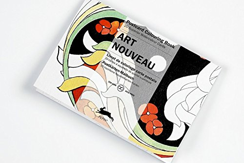 Art Nouveau: Postcard Colouring Book