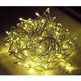 400er LED Lichterkette Strom außen/innen Kabel Transparent warmweiß
