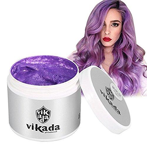 Styling Wax Wachs Kapillare Haar Wach, Grau / Lila / Blau Einweg Hair Wax Haar Styling Modellierung Haar Forming Cream für Männer oder Frauen Party.(Violett)