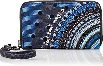 Desigual 19WAYAX1 - Cartera para mujer de Sintético  Mujer Azul Azul (BLUE INDIGO 5173)