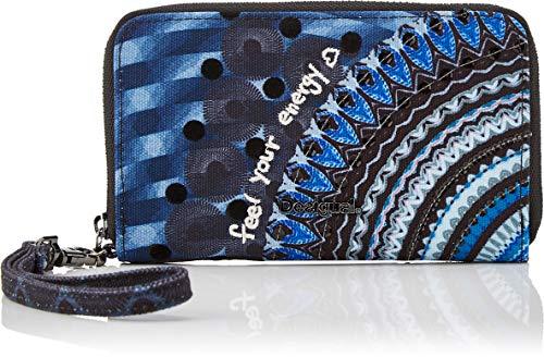Desigual Damen Small Wallet Rep Blue Frien Geldbörse, Blau Indigo), 2 x 9 x 15 cm
