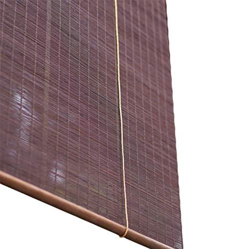 Persiana enrollable Cortina de Bambu- Cortinas Enrollables De Bambú, Horizontales 60% Cortina De Sombreado para El Salón De Té del Hotel, Púrpura Oscuro (Cualquier Tamaño) (Tamaño : 70x150cm)