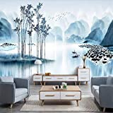 XZCWWH Elegante Alten Bambus Reim Landschaft Wandbild