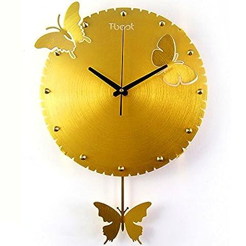 Creative living room chambre silencieuse horloge/Montres fashion pastorale-A 16pouce