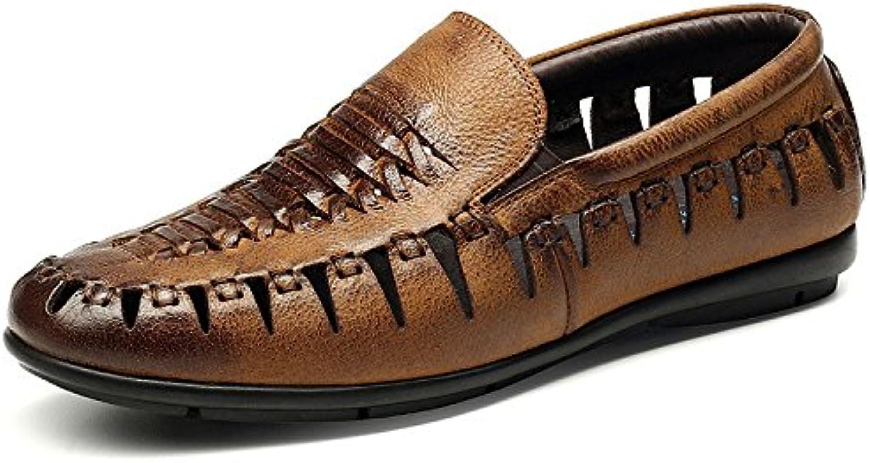 LYZGF Sandalias Para Hombre De Hombre Caballero Mocasín De Verano Para Hombre De Moda Informal Zapatos De Cuero... -