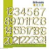 Artemio 2 cm Numeri in legno, Beige