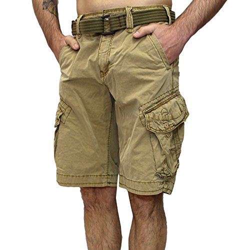 Jet Lag Shorts Take off 3 kurze Hose in charcoal cement schwarz olive camouflage (44, Gold)