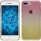 PhoneNatic Case für Apple iPhone 8 Plus Hülle Silikon Design:01 Ombrè Cover iPhone 8 Plus Tasche + 2 Schutzfolien