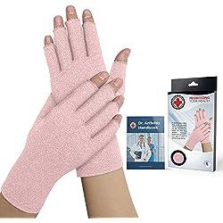 Von Ärzten Entwickelte Arthritis Kompressions-Handschuhe für Damen und von Ärzten verfasstes Handbuch – lindert die Symptome von Arthritis, des Raynauds Syndroms & Karpaltunnelsyndroms (M)