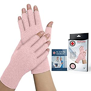 Damen Arthritis Kompressions-Handschuhe von Ärzten entwickelt und Handbuch (evtl. nicht in deutscher Sprache). Lindert Symptome von Arthritis, Raynaud-Krankheit und Karpaltunnelsyndrom.