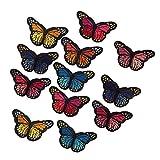 Sharplace 12 Stk Kleidung Patches Zum aufbügeln Oder Nähen, Schmetterling Patch Sticker DIY Kleidung Aufnäher Bügelbild für Shirt Jeans Kleidung
