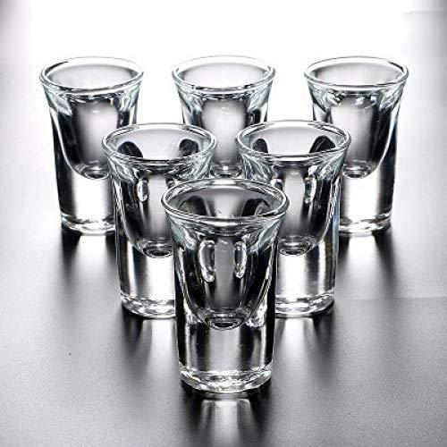 LAJIXIAOBAI Spirits Schnapsglas Fett Bar Club Tumbler Schnaps Hochzeit Weingläser Cocktail Pint Bullet Cup (Gin Fett)