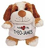 AdoptedBy pouvant Atteindre Theo-James Peluche Ours en Peluche Portant Un nom de T-Shirt imprimé