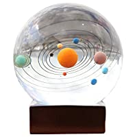 Berry President® 3d Laser Etched Crystal Solar System Paperweight Home Decor Creative Gift 3.1