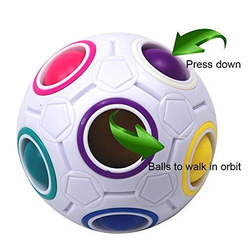 FCBB Fidget Ball Magic Rainbow Ball Spherical Cube Brain Teasers...