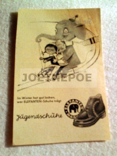 50er Jahre : Anzeige: ELEFANTEN-SCHUHE/UHR - Format: ca. 70 x 100 mm - alte Werbung /Originalwerbung/ Printwerbung /Anzeigenwerbung