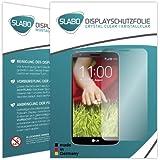 """2 x Slabo Displayschutzfolie LG G2 Displayschutz Schutzfolie Folie """"Crystal Clear"""" unsichtbar MADE IN GERMANY (verkleinerte Folien, aufgrund der Wölbung des Displays)"""