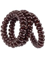 Incroyable Set Kit Meilleure Qualité Pour Coiffures Stylisme Avec 3 Noeuds / Cordons / Cables Plastique à Cheveux Spirales Sans Traces, Couleur Marron Par VAGA®