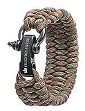 Paracord Armband, extra breit und einstellbar von The Friendly Swede - Survival Outdoor Trilobit Überlebensarmband mit Edelstahlverschluss (verschiedene Grössen)