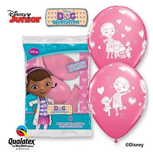 9235Kirschtomaten Disney Doc McStuffins 30,5cm rund Rose Latex Luftballons 06ct ()