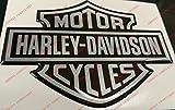 Wappen Logo Decal Harley Davidson, Classic Logo, Aufkleber geharzt, Effekt 3d. Für Benzintank oder Helm
