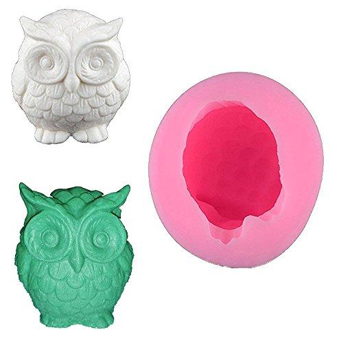 3D-Eulen-Form-Kuchen-Deko-Fondant aus Silikon