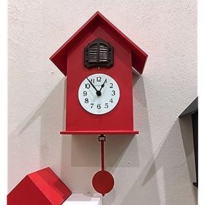 Diamantini & Domeniconi orologio a cucù meridiana 216di legno 18x 38x 15cm, rosso